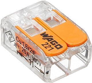 ワゴジャパン WFRシリーズ ワンタッチコネクター ブリスターパック 電線数2本 10個入 WFR-2BP オレンジ