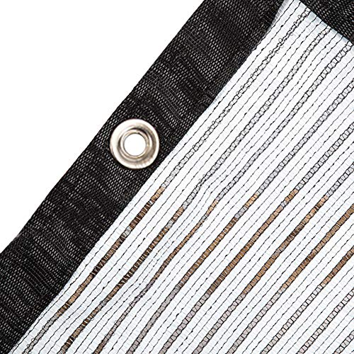 Filet d'ombrage Sun Reflect Bordure en Tissu D'ombrage avec Œillets, Chiffrement Résistant À 75% Aux UV pour Les Plantes D'extérieur/Camping, Blanc Noir (Size : 1.5×2m)
