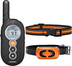 OMORC Dog Training Collar, 2019 Remote Wake Up Dog Shock Collar with 3 Training Mode, Beep, Vibration and Shock, 100% Waterproof Training Collar Up to 1000Ft Remote Range