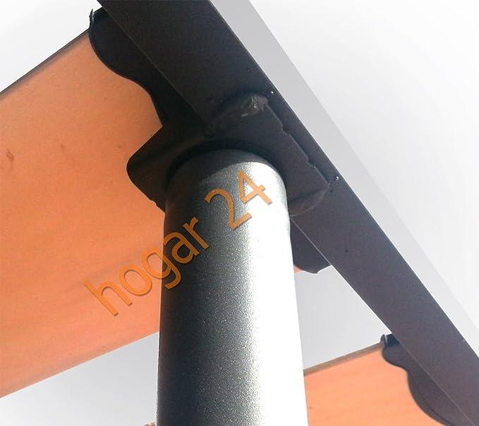 HOGAR24.es-Somier Somieres Lama Ancha Reforzada con Tacos Anti-Ruido y Patas cilíndricas, Tubo 40x30. Fabricación Nacional-90x200cm-PATAS 32CM
