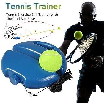 LIGHTBLUE Base de formation de balle de tennis outil de formation dentra/înement de plinthe de tennis