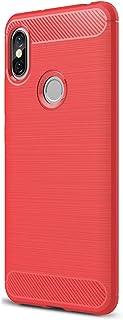 Funda Xiaomi Redmi S2 Negra Xiaomi Redmi S2 Funda Alsoar® Slim Antideslizante protección de caídas y Golpes Fibra de Carbono protección Trasera Soft TPU Case para Xiaomi Redmi S2