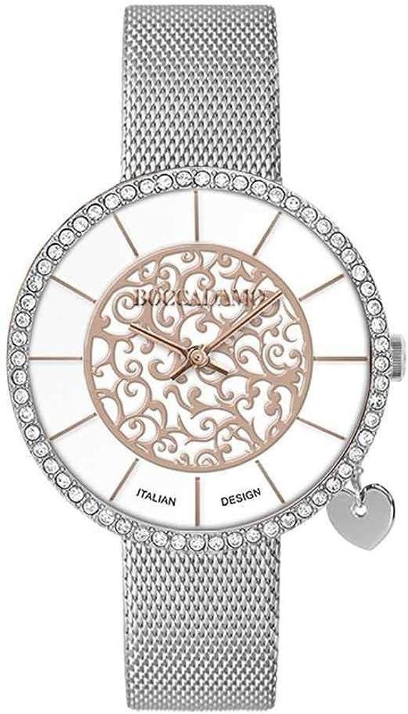 Boccadamo, orologio per donna,con quadrante bicolor circolare su due livelli rose gold My034