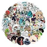 KEJIA Dibujos Animados Anime Hayao Miyazaki móvil Impermeable Maleta Trolley Maleta Pegatinas 40 Piezas