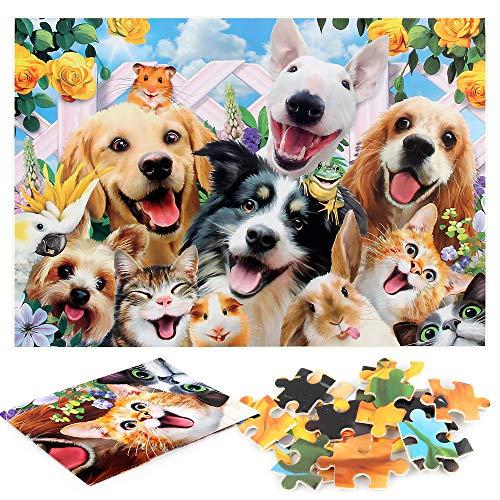 Pet Family Puzzle 1000 Piezas, Rompecabezas Imposible, Juego de Habilidad para Toda la Familia, Colorido Juego de Rompecabezas, Rompecabezas para Adultos a Partir de 14 años