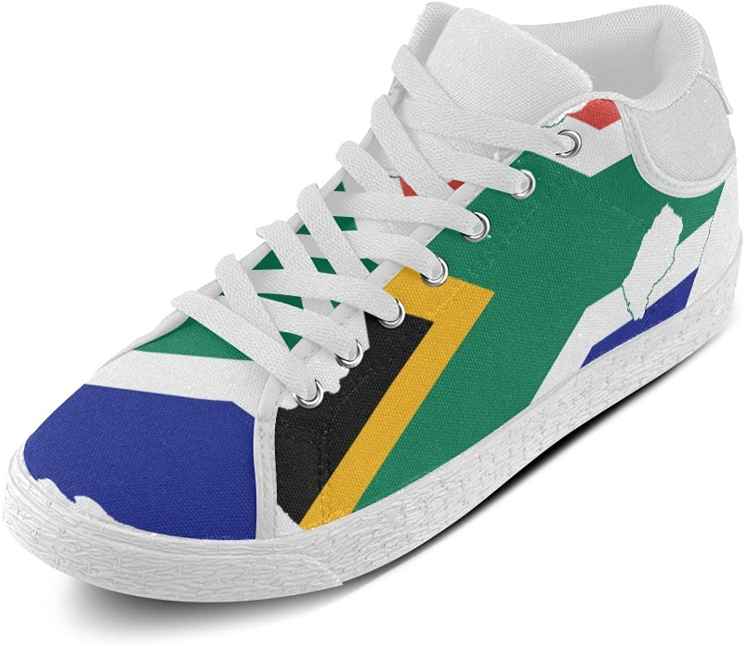N.Y.L.A. ADE Flag Map of South Africa Women's Chukka Canvas shoes M003