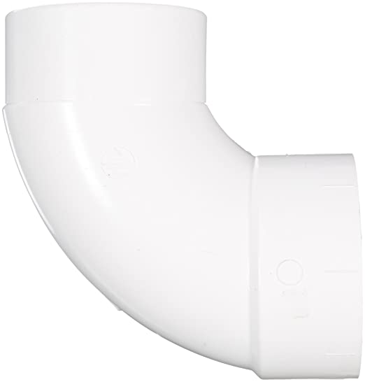Elbow with Side Inlet 1//4 Bend 3 x 3 x 2 Hub Spears P300S Series PVC DWV Pipe Fitting