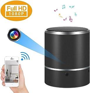 Balscw-J WiFi cámara Oculta Bluetooth Altavoz 1080P cámara espía con 180 ° rotar la Lente y detección de Movimiento