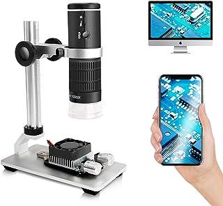Cainda WiFi digitalt mikroskop för smart Phone Mac Windows HD 1080P videoinspelning 50-1000X förstoring trådlöst bärbart m...