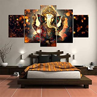 GoolRC Unframed Modern Flowers Art Wall Decoration Printed Canvas Oil Painting