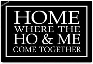 Aznwxy Where The Ho & Me Come Together Doormat Entrance Floor Mat Funny Doormats Welcome Door Mat Decorative Indoor Outdoo...