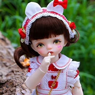 BJD Doll 1/6 SD Doll 10-Inch Ball Jointed Dolls with Makeup Face Wearing Exquisite Clothes and Shoes Best Gift for Girls
