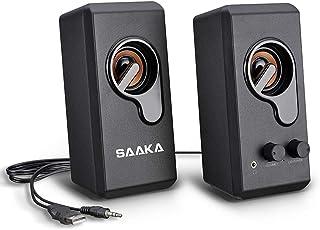 PCスピーカー SAAKA USBスピーカー コンパクト 高音質 パソコン・テレビ・ゲーム機などに対応 6W出力 computerspeaker