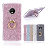 Funda® Anillos Soporte Funda Carcasa Case Cover Caso para Motorola MOTO G5 Plus/Lenovo MOTO G5 Plus (Rosa)