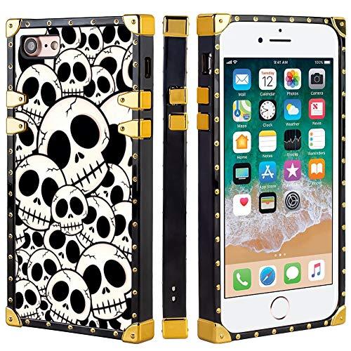 Naikuyi - Funda de lujo para iPhone 8 (2017), iPhone 7 (2016), iPhone SE (2020) (4,7 pulgadas) La pesadilla antes de Navidad Halloween