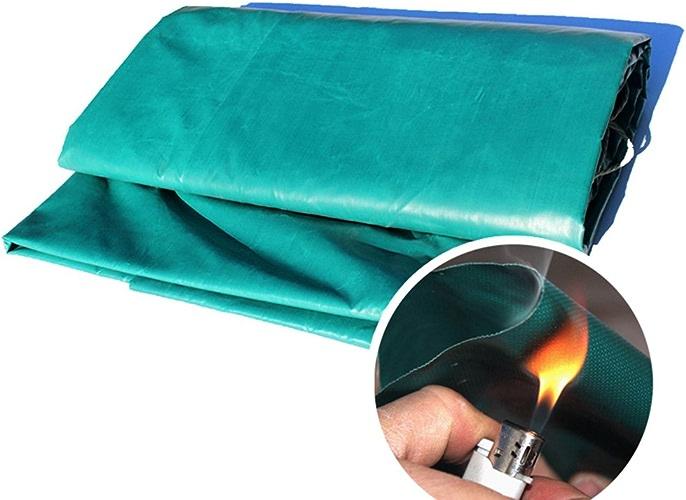 CLDBHBRK Bache Tissu Ignifuge Tissu Ignifuge Tissu de Pluie Toile d'ombre imperméable Prougeection Solaire Résistance à Haute température de Plein air épaissir Fibres de Verre Vert,3  3m