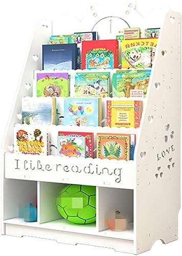 Liergou-House orgnaizer Bibliothèque pour Enfants avec étagère pour Enfants avec Alphabet, Livres, RangeHommest 4 Niveaux, étagères, Blanc (Couleur   Blanc, Taille   112x100x32cm)