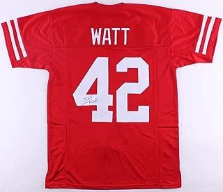 TJ Watt Signed Jersey JSA Wisconsin