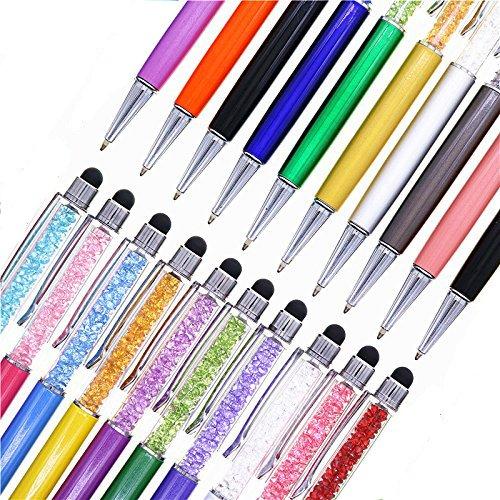 Pen Bling sets Pen Rhinestones Crystal Metal Ballpoint Pens Fine Black Ink Office Supplies(package of 10)