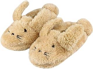 Lacoifa Chausson de Chouette pour Enfant garçon ou Fille Pantoufles Animaux en Tricot d'hiver antidérapants