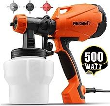 REXBETI Ultimate-750 Paint Sprayer, 500 Watt High Power HVLP Home Electric Spray Gun, 3..