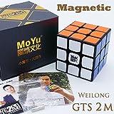MAGNETIQUE *Weilong GTS 2 M* - MoYu 3x3 Professionnel & Compétition Cube de Vitesse Aimanté Speed Cube Magic Cube Puzzle 3D - Noir / BLACK