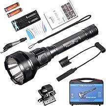 TrustFire T70 Flashlight High Lumens 2300LM CREE XHP-35 HI LED and 1000M Range Tactical Hunting Light -2x 18650 3400mAh Ba...