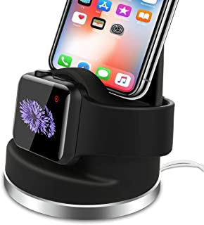 BECROWMUS Mobile Phone Stand Charging Dock Compatible iPhone X/8/8Plus/7/7Plus/6s/6s Plus, AirPods iWatch Series 3/2/1