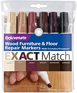 Rejuvenate New Improved Colors Wood Furniture & Floor Repair Markers Make Scratches Disappear in Any Color Wood Combinatio...