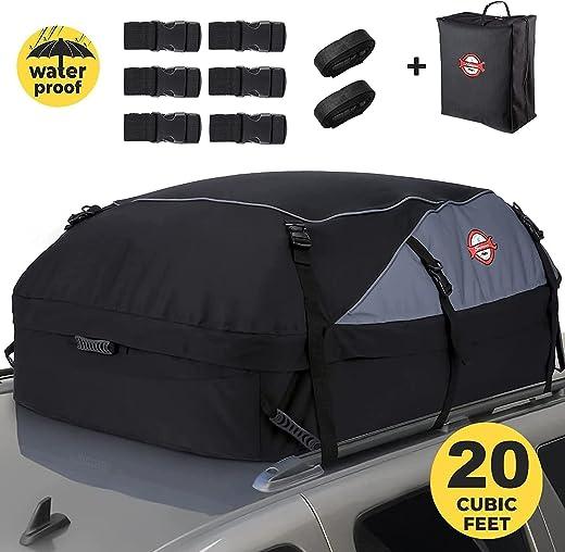 Sailnovo Auto Dachbox 20 Kubikfuß Faltbare Dachkoffer Aufbewahrungsbox Wasserdicht Dachtasche Dachgepäckträger Tasche Aufbewahrungsbox für Reisen...