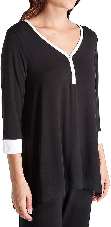 DKNY Women's Season Silhouettes 3 4 Sleeve Top