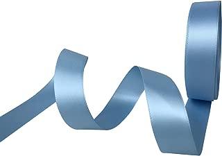 3/8 Inch Wide Double Face Satin Ribbon No Fading Woven Ribbon - 25 Yard (308-Sky Blue)