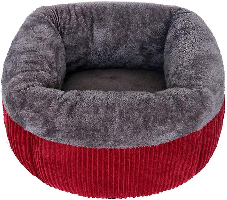Cat, Winter Warm pet, deep Sleep, Four Seasons Universal Closed Dog Kennel, Winter Supplies, Comfortable Warmth, semiClosed deep Sleep nest, Send Toys (Size   L)