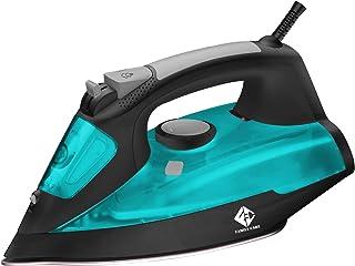 Family Care Plancha de vapor, suela Cerámica antiadherente, 2600 W, 420 ml, antigoteo, autolimpieza, color Azul y negro.