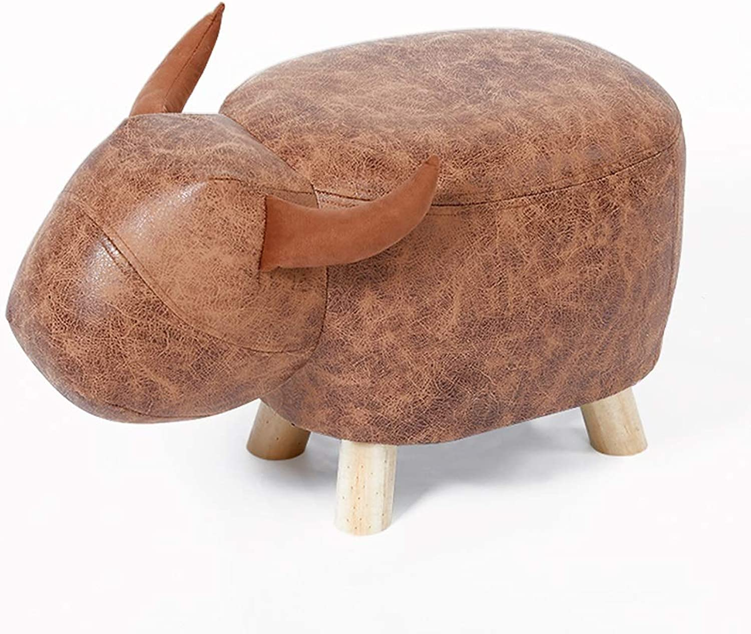 FLY Fashion Creative Maverick Elephant Change shoes Bench Bench Home Foot Stool Stool Stool Solid Wood Sofa Stool Stool (color   Brown)