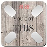You got This - Motivational Smart Body Fat Scales. Know Your Body Age, Body Fat%, Muscle Mass and More