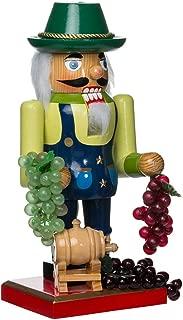 Kurt Adler Wooden Winemaker Nutcracker, 10.25-Inch