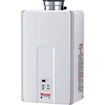 Rinnai V75iN Tankless Hot Water Heater, Large, V75iN-Natural Gas/7.5 GPM