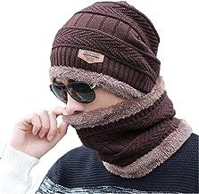 AlexVyan Premium Quality Ultra Soft Unisex Woolen Beanie Cap Plus Muffler Scarf Set for Men Women Girl Boy - Warm, Snow Pr...