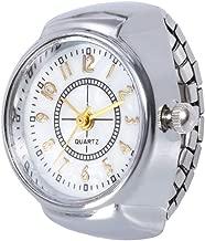 MOSTFA Lovers Watches Big Dial Quartz Analog Creative Steel Cool Wrist Watch Elastic Quartz Finger Ring Watch Bracelet Gift