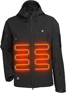 ITIEBO Men`s Heated Jacket Electric Battery Pack: Waterproof Warm Heated Clothes