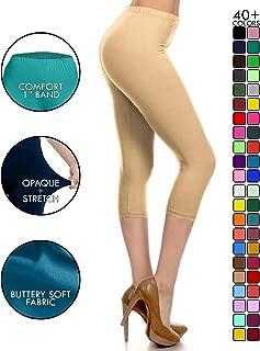 3d742db2e3119 Leggings Depot High Waisted Capri Leggings - Soft & Slim - 37+ Colors