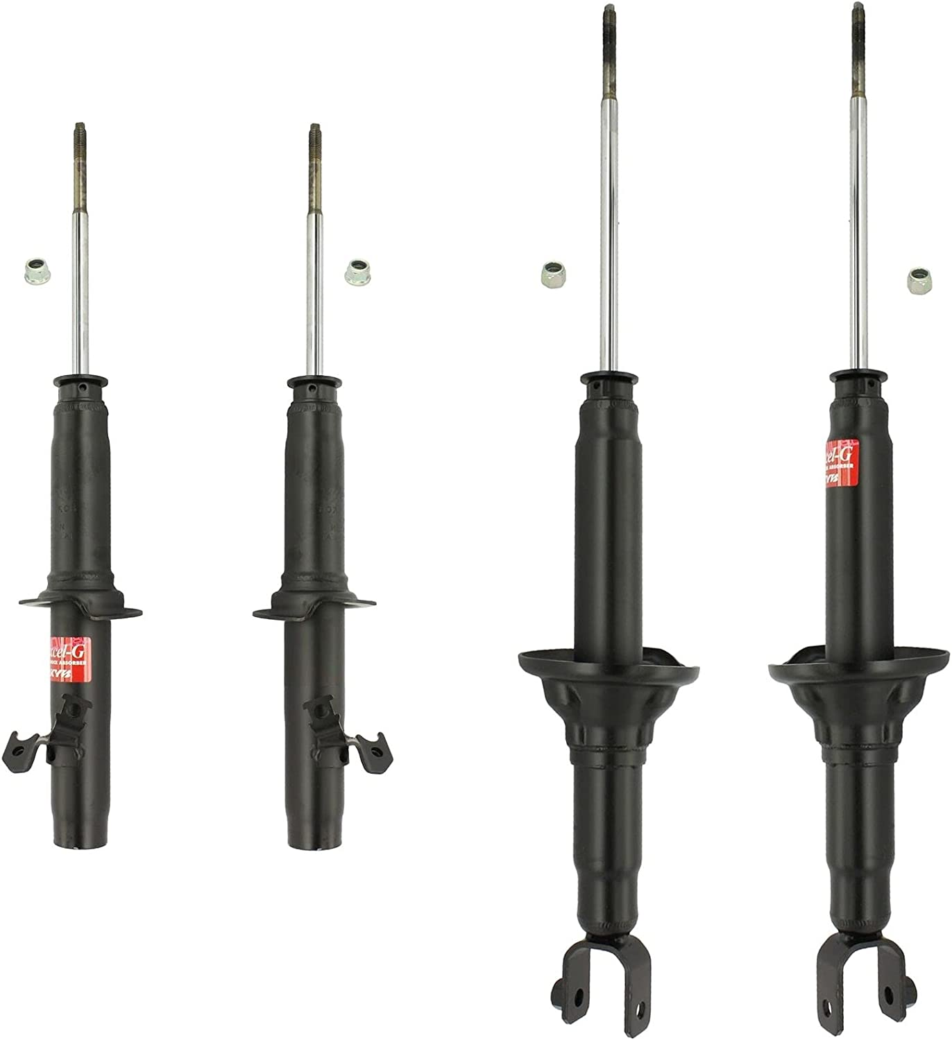 Front and Rear Suspension Struts Accor Compatible Industry No. 1 kit with Honda Popularity