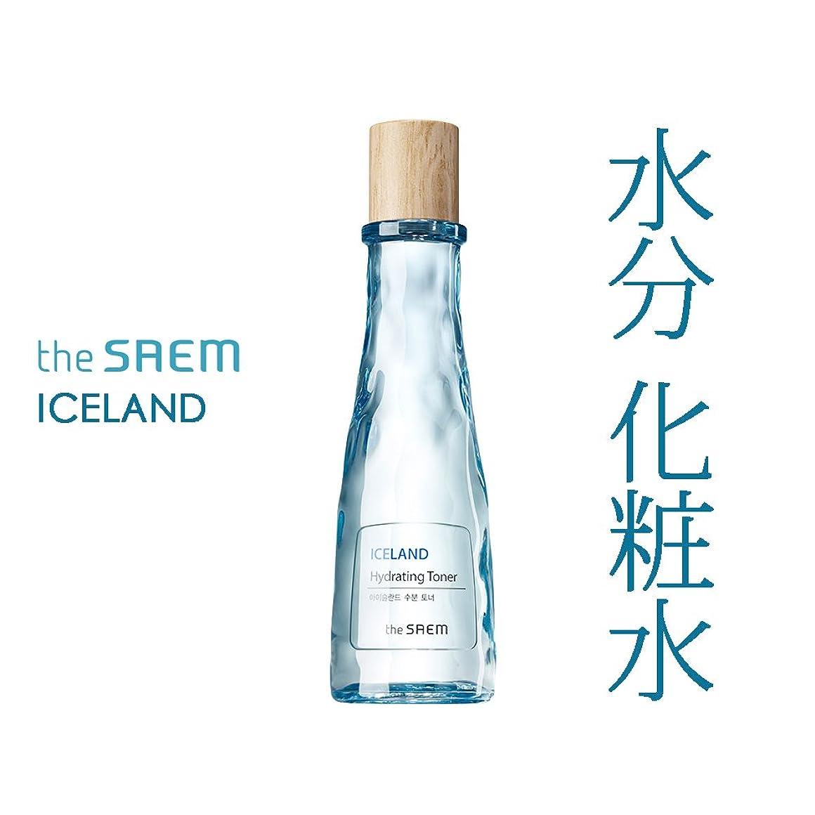 馬鹿ピンク香水THE SAEM ザセム アイスランド 水分 トナー Iceland Hydrating Toner 160ml 【 化粧水 水分補給 潤い 高保湿 韓国コスメ 】