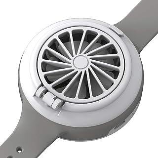 Ventilador de Reloj Ventilador de Bolsillo USB,Mini Fan PortáTil con 3 Velocidades,Se Puede Ajustar En 45°,ÚSelo En Su MuñEca,para Niños O Adultos,Gris