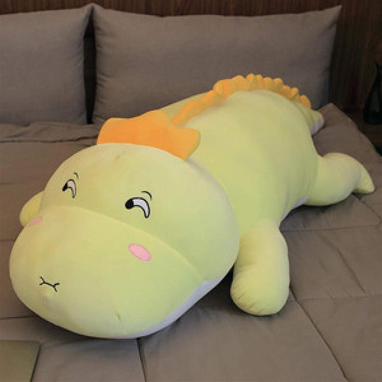 Comfortable and Durable Color Max 59% OFF Big T half Plush Dinosaur Cartoon Green
