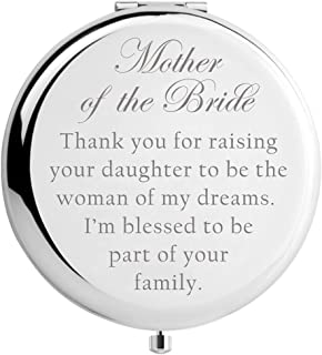 Mother of the Bride Gifts from Son in Law, Mother in Law Gifts from Groom, Engraved Makeup Mirror (MIR-MOBRIDE-FAMILY)