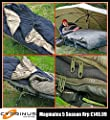 """Cyprinusâ""""¢ Magmatex 3-5 Season waterproof Carp Fishing Sleeping Bag for Bedchair with fleece lining and straps for attaching to bed from Cyprinus"""