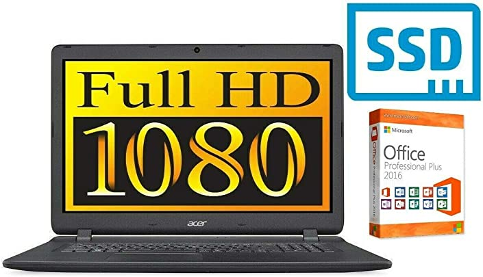 Laptop Aspire ES1-732 500GB SSD 8GB RAM Windows 10 Pro 44cm 17 3 quot Full HD TFT matt CD DVD Brenner Schätzpreis : 599,00 €
