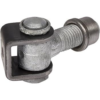 2 x Gond de Porte 83 mm r/églable avec Patte /à Souder M16 Ferrure pour Portail Charni/ère pour Porte en Acier Gonds pour Portail en Acier de SO-TECH/®